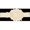 Oscar de la Renta Raffia Embellished Buc - Belt -