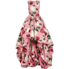 Oscar de la Renta Sleeveless Floral Asym - Dresses -