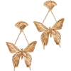Oscar de la Renta Swallowtail Butterfly - Earrings -
