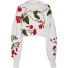 Oscar de la Renta cropped embroidered  - Pullovers -
