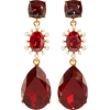 Oscar de la Renta  red crystal earrings - Earrings -