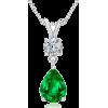 Oval Emerald Pendant - Naszyjniki - $8,629.00  ~ 7,411.32€