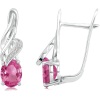 Oval Pink Sapphire Earrings - Earrings - $1,529.00