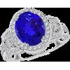 Oval Tanzanite Vintage Ring - Rings - $7,059.00