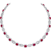 Oval Ruby and Baguette-Cut Diamond Neckl - Collane - $105,000.00  ~ 90,182.94€