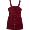 Overall Dress - Burgundy/corduroy - | H& - Dresses -