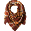 Oversized Square Plaid Scarf - Scarf -
