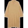 Oversized long knit dress - Vestidos -
