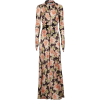 PACO RABANNE Long dress with floral patt - Vestiti -