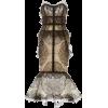 PAMELA ROLAND strapeless lace dress - Vestidos -