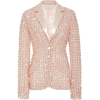 PAMELLA ROLAND  pink sequin blazer - Jaquetas e casacos -