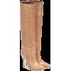 PARIS TEXAS,Croc-effect leather boots - Stivali -