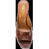 PARIS TEXAS crocodile embossed mules - Sandals -
