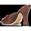 PARIS TEXAS crocodile embossed mules - Sandały -
