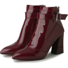 PATENT LEATHER BLOCK HEEL ANKLE BOOTS (2 - ブーツ - $59.97  ~ ¥6,750
