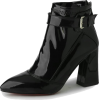 PATENT LEATHER BLOCK HEEL ANKLE BOOTS (2 - Čizme - $59.97  ~ 380,96kn