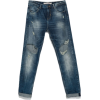 PEG-LEG DISTRESSED DENIM - Jeans -