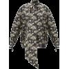 PETAR PETROV Carina Fog floral-print tie - Camicie (lunghe) -