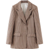 PLAID 2PC BLAZER AND SKIRT SUIT - Suits - $59.97
