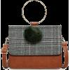 PLAID BRACELET SHOULDER BAG (3 COLORS) - Torbice - $44.97  ~ 38.62€
