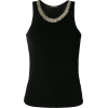 PLEIN SUD embellished neckline tank top - Tanks - $283.00