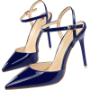 POINTED TOE BUCKLE STRAP PUMPS Blue - Classic shoes & Pumps -