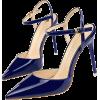 POINTED TOE BUCKLE STRAP PUMPS Blue - Klasične cipele -