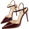 POINTED TOE BUCKLE STRAP PUMPS Burgundy - Scarpe classiche - $49.97  ~ 42.92€