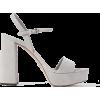 PRADA 115 suede platform sandals - Plataformas -