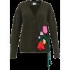 PRADA  Appliqué-rose wool-blend cardigan - Cardigan -