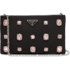 PRADA Catene crystal-embellished padded- - Carteras tipo sobre -