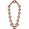 PRADA Chain-link acetate necklace - Necklaces -