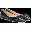 PRADA Embossed leather ballet flats - Flats -