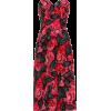 PRADA Floral crêpe-cady midi dress - 连衣裙 -