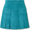 PRADA Pleated suede mini skirt - Skirts -