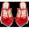 PRADA  Sculpted-heel satin mules - Classic shoes & Pumps -