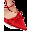 PRADA  Sculpted-heel satin mules - Klassische Schuhe -