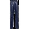 PRADA Wide-leg leather pants - Pantaloni capri -