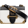 PRADA black and white cahier leather bag - Hand bag -