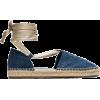 PRADA blue Denim espadrilles - フラットシューズ -