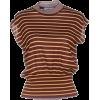 PRADA brown striped sleeveless sweater - Maglioni -
