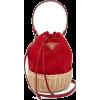 PRADA canvas and woven bag - Torbice -