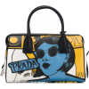 PRADA cartoon lady bowling tote - Clutch bags -