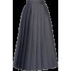 PRADA charcoal pleated skirt - Gonne -