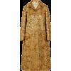 PRADA gold jacquard coat - Kurtka -