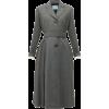 PRADA grey belted coat - Jaquetas e casacos -