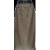 PRADA grey embellished organza skirt - Skirts -