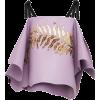 PRADA leaf-embroidered blouse - Tunic -