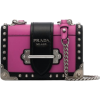 PRADA pink and black cahier leather shou - Carteras -
