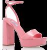 PRADA pink patent leather heel sandal - Sandali -